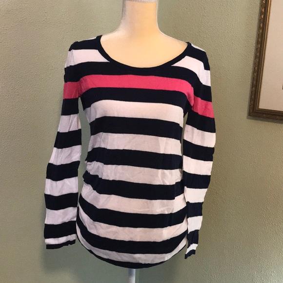 Motherhood Maternity Sweaters - Motherhood Maternity Striped Sweater Medium